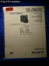 Sony Service Manual SS J70 /J75 Speaker System (#4478)