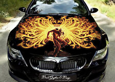 Flame Dragons Full Color Graphics Adhesive Vinyl Sticker Fit any Car Hood #144