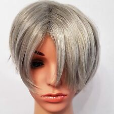 Yuri On Ice Synthetic Cosplay Anime Wig Grey