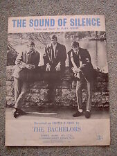 The Sound of Silence, The Bachelors - Original 1960s sheet music, Paul Simon