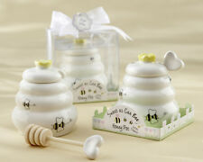 12 Sweet As Can Bee Ceramic Honey Pot Dipper Baby Shower Favors