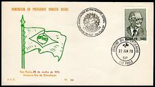 Brazil-1978-FDC (First Day Cover)-Commemorative President Ernesto Geisel- Lot754