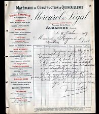 "AUZANCES (23) MATERIAUX de CONSTRUCTION ""Gilbert POUCHOL / MERCUROL & LEGAL"""