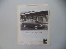advertising Pubblicità 1967 OSI 2600 DELUXE SU ALFA ROMEO BERLINA