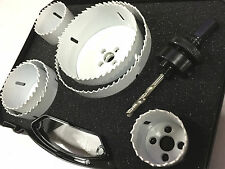 Hole Saw Set Bi Metal HSS Holesaw Professional Plumbing 44 57 73 92 114mm-NEW