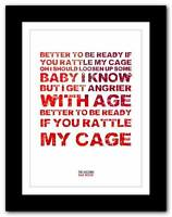 ❤ THE VACCINES Bad Mood song words typography poster art  print - A1 A2 A3 or A4