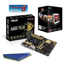 AMD A10 6800K CPU HD8670 ASUS A88X ATX MOTHERBOARD 8GB DDR3 MEMORY RAM COMBO KIT