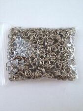800 pcs Silver Tone Double Loop Open Jump Rings Jewelry Double Ring 6mm #4