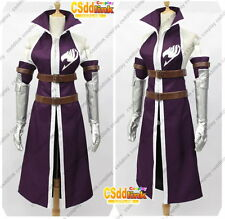 Fairy Tail Erza Scarlet Cosplay Costume Purple MM05