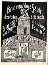 Seidel & Naumann, Dresda una potente pilastro Deutscher feinmechanik Pubblicità 1907