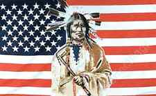 USA INDIAN FLAG - 5x3 Feet - NATIVE AMERICAN TRIBESMAN