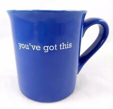 "LOVE YOUR MUG BLUE ""YOU'VE GOT THIS"" 16 OZ. MUG W/ EXCLAMATION MARK INSIDE NEW!"