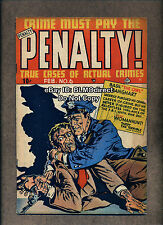 HTF 1949 Crime Must Pay The Penalty #6 G/VG Ace Gerber 5 Rating Detective A1