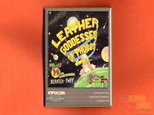 """Leather Goddesses of Phobos box art 2x3"""" fridge/locker magnet Infocom"""