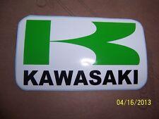 """1- Kawasaki  Sticker 4""""X 7"""" ( New GREEN, BLACK and WHITE Vinyl )......L@@K"""