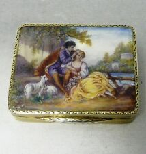 Antique Continental Silver and Enamel Box 1928 stock id 7944