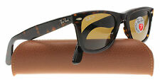 New Genuine Ray-Ban 2140 902/57 Tortoise Polarized Wayfarer Sunglasses 50mm
