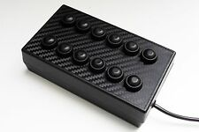 BBJ SimRacing PC USB 12 Function Button Switch Box Black/Carbon