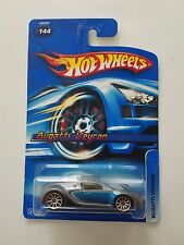 Hot Wheels 2006 Bugatti Veyron - Blue & Silver - #144 -  Ships in Protecto