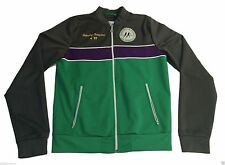 Vintage Inspired HOLLISTER Tennis Track Jacket Medium Green Gray 1987 Champs