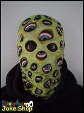 Green Eye Scary Horror Full Head Mask Realistic Printed Lycra for Halloween
