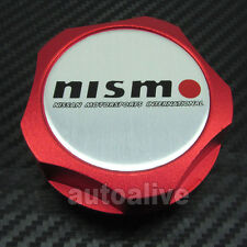 Red Nismo Billet Engine Oil Filler Cap Fuel Tank Cover for Nissan Motorsports