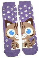 LADIES HALF A CAT ON EACH FOOT DOUBLE SIDED SOCKS ONE SIZE