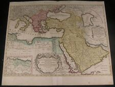Turkish Empire Arabia Middle East 1792 Elwe fine folio antique map w/ old color