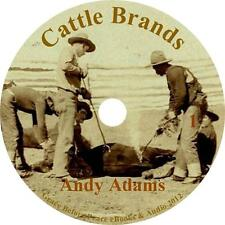 Cattle Brands, Wild West Cowboy Adventure Audiobook by Andy Adams on 1 MP3 CD