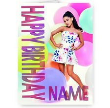 Ariana Grande Personalised With Name A5 Happy Birthday Card