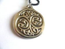 Finding New Balance  hand made spiritual pewter pendant