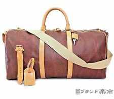 Authentic ETRO Milano Paisley Red rust color PVC Leather Boston Bag Italy Strap