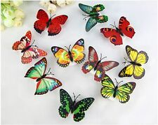7Colors Changing Butterfly LED Night Light Lamp Party Xmas Wall Car Window Decor