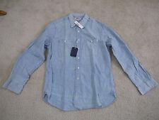 $118 Wallace & Barnes Japanese chambray workshirt Indigo M Item E8028 NWT!