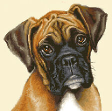 BOXER PUPPY dog complete counted cross stitch sewing kit