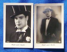 Rolf von Goth 1933 Ramses Film Star Cigarette Cards Lot of 2