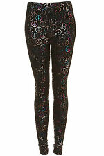 Brand new TOPSHOP multi coloured peace leggings UK 12 in Multi
