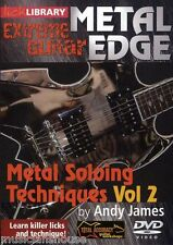 LICK LIBRARY EXTREME GUITAR Metal Edge SOLOING TECHNIQUES Learn to Play DVD 2