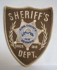 """Walking Dead King County Sheriff Dept 4.75"""" Costume Patch- FREE S&H (WDPA-SHER)"""