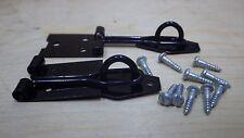 """Paquete De 2 X 3"""" 75mm Negro Cable Cerrojo y Grapa Uso Con Candado Tapa Caja Puerta"""