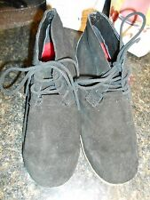 Oliberte black suede Malawa leather oxford shoes wedges display sz 7M New no box