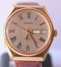 Vintage POLET Automatic 23 Jewels USSR Soviet Wristwatch Day, Date Military Big