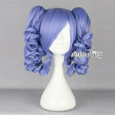 Lolita Purple 35CM Short Fashion Cosplay Harajuku Full Wig + 2 Curly Ponytails