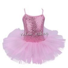 Girl Kid Xmas Gymnastic Ballet Leotard Tutu Dress Ballerina Dance Outfit Costume