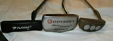 LOT OF 3 VINTAGE PUTTERS ODYSSEY DUAL FORCE ROSSIE RAY COOK NUGGET & PLAYERS JR