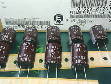 [10 pcs] .Nippon Chemi-Con 47uF 400V Capacitors series KXJ  10,000 hours at 105℃