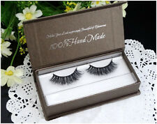 1 Pair 3D Tridimensional Multilayer Mink Hair False Eyelashes Natural Cross