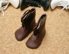 "Doll Shoes, 65mm BROWN Lace up Boots for 16"" Sasha"