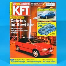 KfT Kraftfahrzeugtechnik 7/1998 Opel Astra ICE 3 Suzuki Grand Vitara Peugeot 206