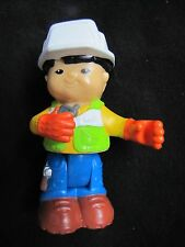 Fisher Price Little People ASIAN CONSTRUCTION BOY MAN Poseable Bendable HARD HAT